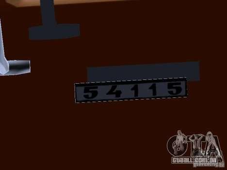 KAMAZ 54115 caminhão para GTA San Andreas vista interior