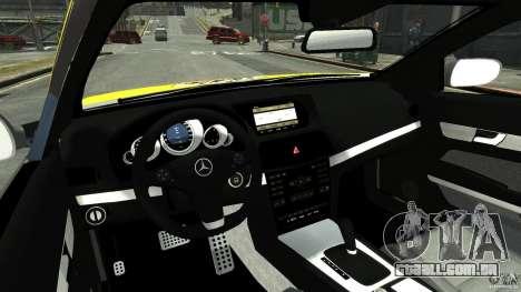 Mercedes-Benz E 500 Coupe V2 para GTA 4 vista superior