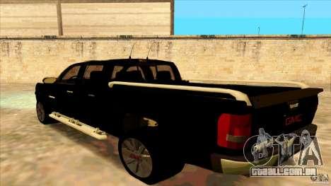 GMC Sierra 2011 para GTA San Andreas esquerda vista