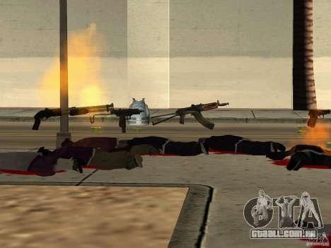 Armas nacional-versão 1.5 para GTA San Andreas décimo tela