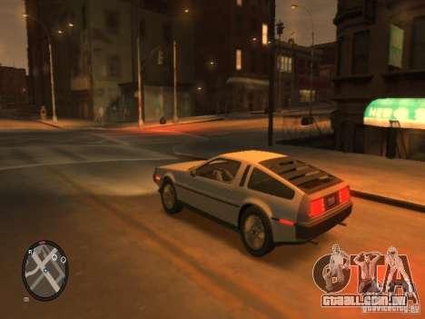De Lorean DMC 12 para GTA 4 vista de volta