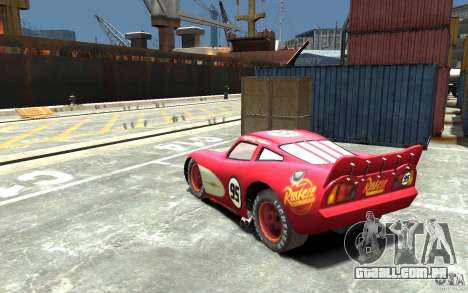 Lighting McQueen para GTA 4 traseira esquerda vista