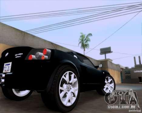 Vauxhall VX220 Turbo para GTA San Andreas vista traseira