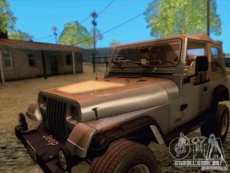 Jeep Wrangler 1994 para GTA San Andreas esquerda vista