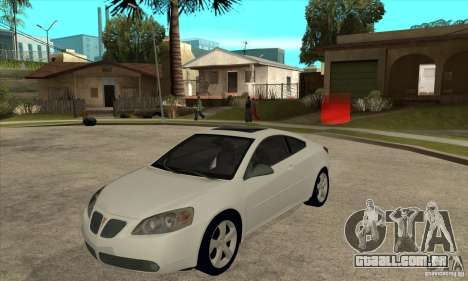 Pontiac G6 Stock Version para GTA San Andreas