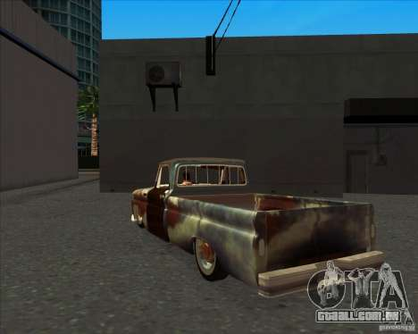 Chevrolet C10 Rat Rod para GTA San Andreas vista direita