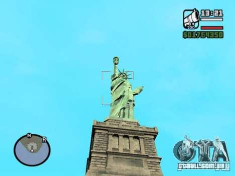 A estátua da liberdade para GTA San Andreas