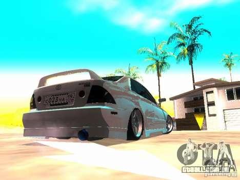 Toyota Altezza HKS para GTA San Andreas traseira esquerda vista