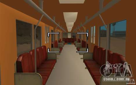 Metro type 81-717 para GTA San Andreas vista direita