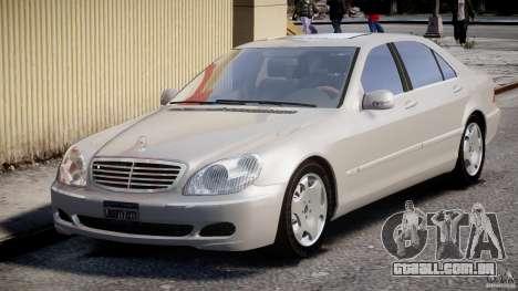 Mercedes-Benz W220 para GTA 4 vista de volta