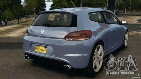 Volkswagen Scirocco R v1.0 para GTA 4 traseira esquerda vista