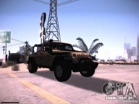Jeep Wrangler Rubicon Unlimited 2012 para GTA San Andreas vista traseira