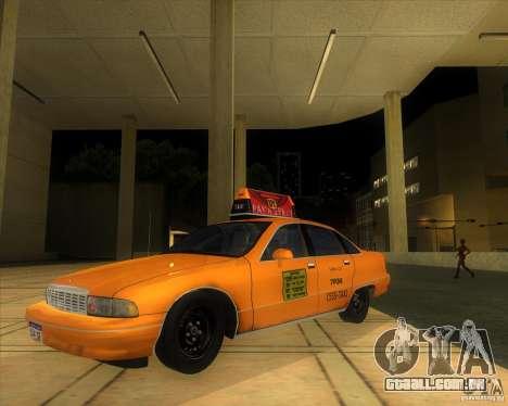 Chevrolet Caprice Taxi 1991 para GTA San Andreas