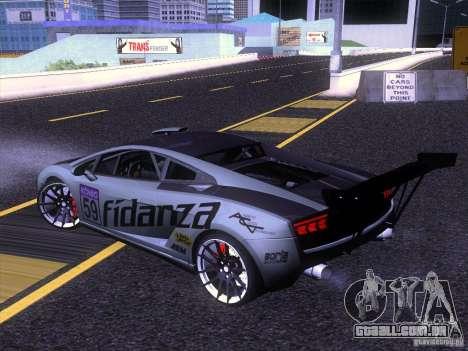 Lamborghini Gallardo Racing Street para GTA San Andreas esquerda vista