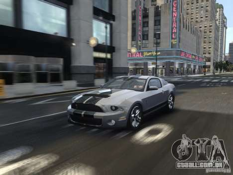 Shelby GT500 2010 para GTA 4 vista lateral