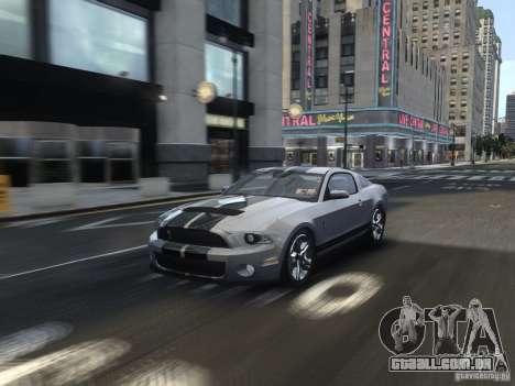 Shelby GT500 2010 para GTA 4 vista lateral