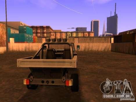 Carrinha pickup de T3 para GTA San Andreas traseira esquerda vista