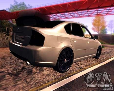 Subaru Legacy 3.0 R tuning v 2.0 para GTA San Andreas traseira esquerda vista