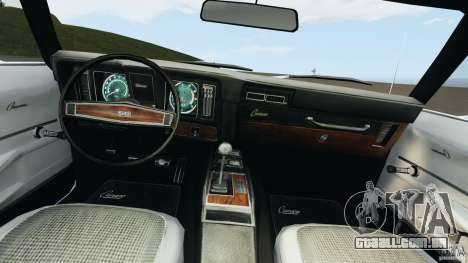 Chevrolet Camaro SS 350 1969 para GTA 4 vista de volta
