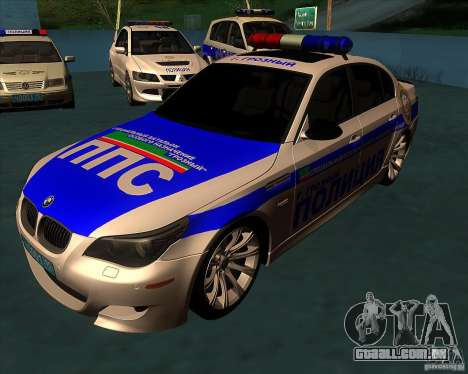 BMW M5 E60 polícia para GTA San Andreas