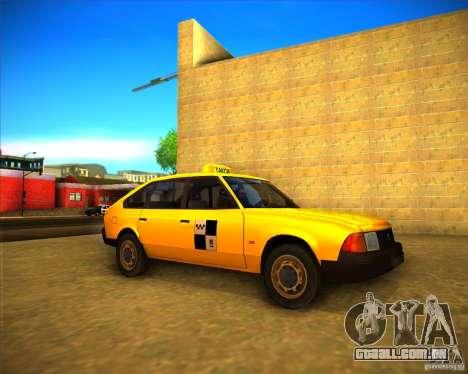 Táxi do AZLK 2141 para GTA San Andreas esquerda vista