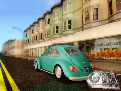 Volkswagen Beetle 1300 para GTA San Andreas esquerda vista