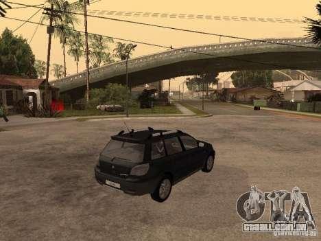 Mitsubishi Outlander 2003 para GTA San Andreas traseira esquerda vista