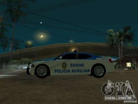 Dodge Charger Police para GTA San Andreas vista traseira