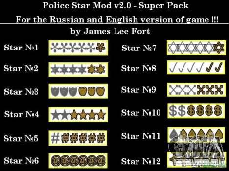 Novas estrelas para o capuz # 11 para GTA San Andreas