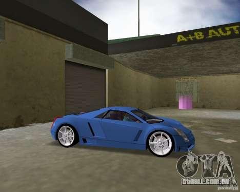 Cadillac Cien para GTA Vice City vista traseira esquerda
