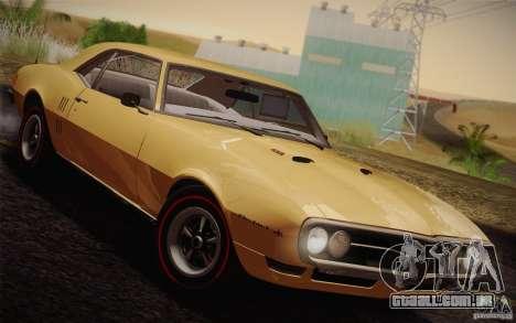 Pontiac Firebird 400 (2337) 1968 para GTA San Andreas vista interior
