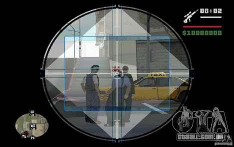 Sniper mod v. 2 para GTA San Andreas segunda tela