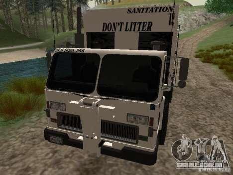 Caminhão de lixo do GTA 4 para vista lateral GTA San Andreas