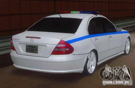 MERCEDES BENZ E500 w211 SE polícia Rússia para GTA San Andreas esquerda vista
