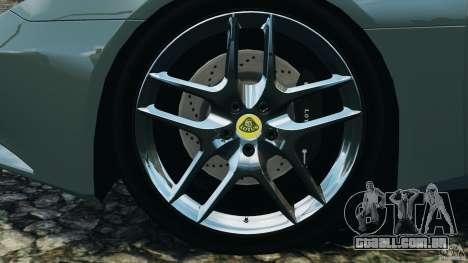 Lotus Evora 2009 v1.0 para GTA 4 vista superior