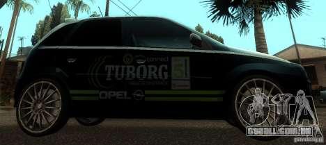 Opel Corsa GSI Rally para GTA San Andreas esquerda vista