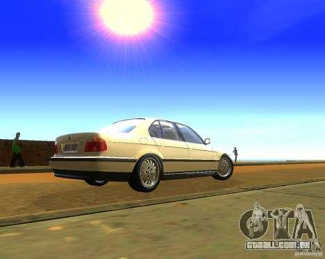 BMW 735i para GTA San Andreas esquerda vista