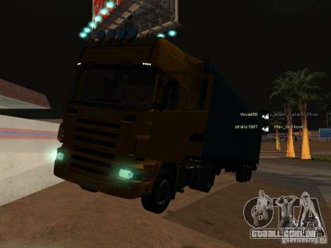 Scania R620 para GTA San Andreas vista inferior