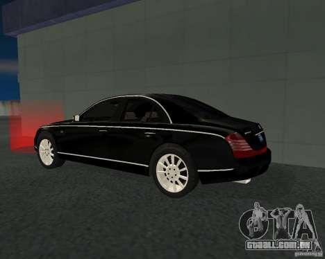 Maybach 57S para GTA San Andreas vista direita