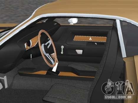 Dodge Challenger 440 Six Pack 1970 para vista lateral GTA San Andreas