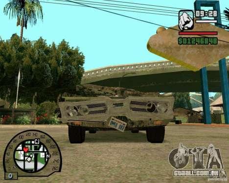 Plymouth Fury III para GTA San Andreas vista traseira