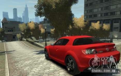 Mazda RX-8 (2006) para GTA 4 traseira esquerda vista