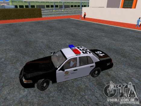 Ford Crown Victoria San Andreas State Patrol para GTA San Andreas vista interior