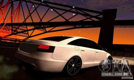Audi A6 Blackstar para GTA San Andreas vista direita
