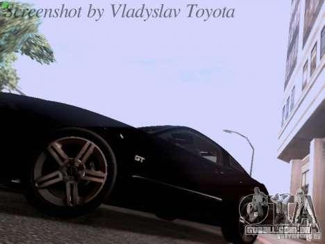 Ford Mustang GT 2011 Unmarked para vista lateral GTA San Andreas