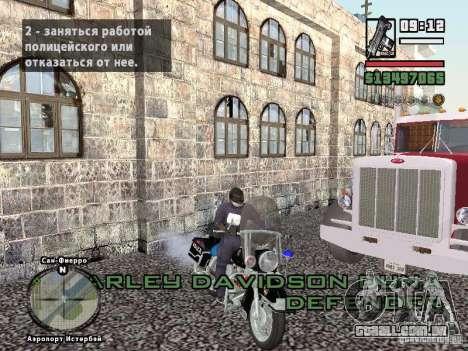 Helmet mod para GTA San Andreas por diante tela