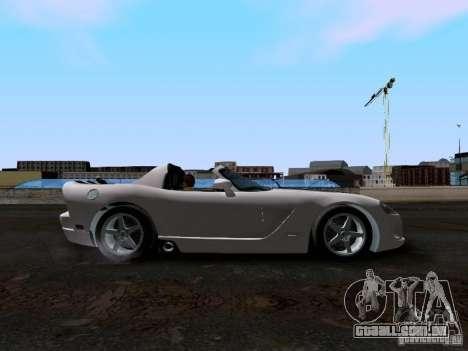 Dodge Viper SRT-10 Custom para GTA San Andreas vista interior