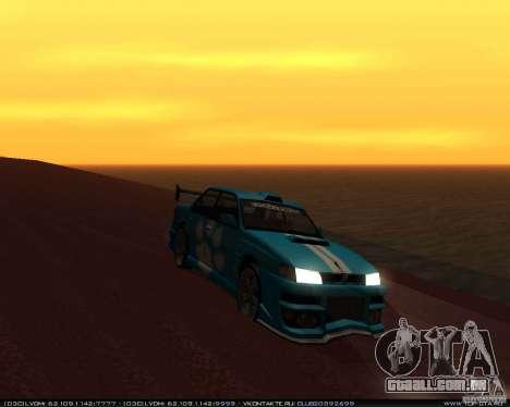 Novos vinis no Sultan para GTA San Andreas traseira esquerda vista