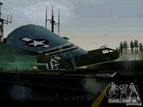 2 Linhas de aeronaves do jogo por trás do inimig para GTA San Andreas vista direita