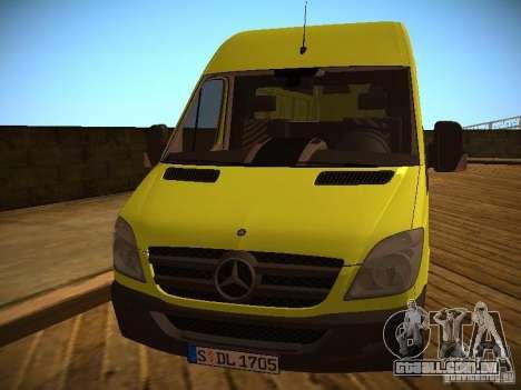 Mercedes Benz Sprinter 311 CDi para GTA San Andreas esquerda vista